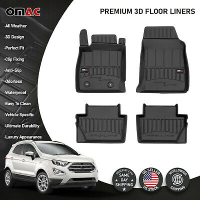 OMAC Premium 3D Floor Liners Mats For Ford Ecosport 2018-2020