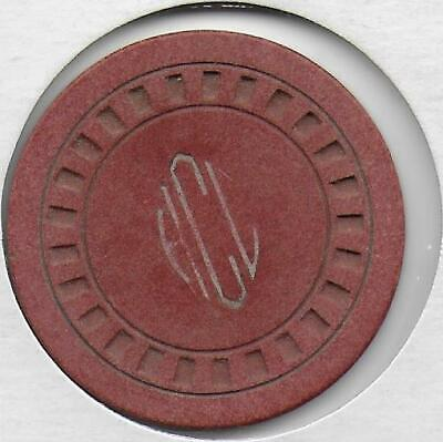 Obsolete Illegal Casino Chip Marked HCL-Des Moines, Illinois-Closed