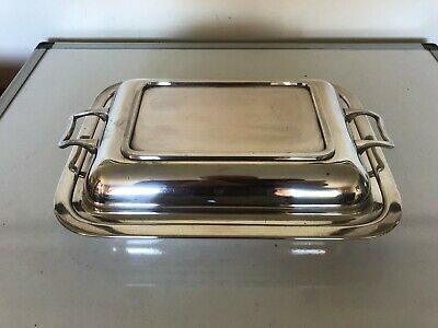 Nice Silver Plated Two Handled Lidded Entree Dish (Ed 666 Ab)
