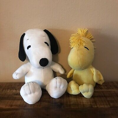 """Kohl's Cares 10.5"""" Snoopy and 9.5"""" Woodstock Plush Set Of 2 Charlie Brown"""