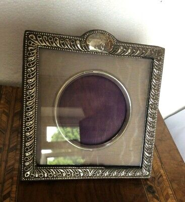 Antique Sterling SILVER  PHOTO PICTURE FRAME Edwardian 1906
