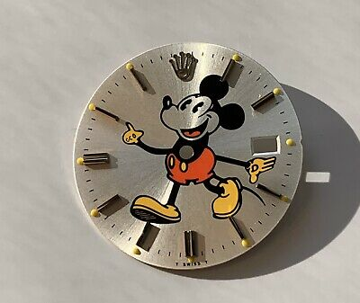 Rolex Precision 6694 Silver Mickey Mouse Aftermarket Refinished Dial