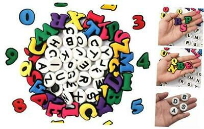 YAO 62Pcs Two Sets of Letters and 10pcs Mumbers PVC Shoe Charms