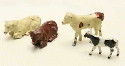 Vintage Lead Toys Made In England: Cows