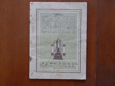 1908 Remington Oil Engine Stamford, Conn. Catalog