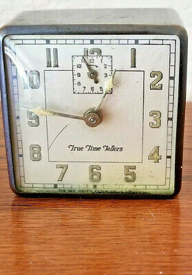 Antique True Time Tellers Miniature Alarm Clock