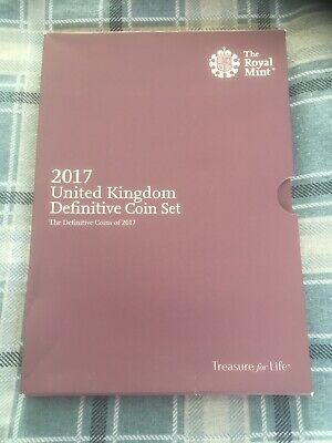 Royal Mint 2017 Annual Definitive Brilliant Uncirculated 8 Coin Set Pack