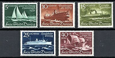 Germany - Danzig 1938 Winter Relief Fund - Full Set - Mint *Hinged*