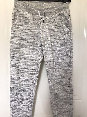 Girls Light Grey Tracksuit Jogging Joggers Bottoms By H&M Basic Aged 10-11 Years