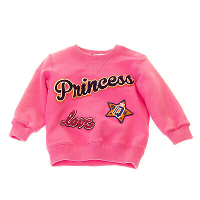 RRP €260 DOLCE & GABBANA Sweatshirt Size 6-9M Terry Patch Front Made in Italy