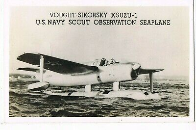 "REAL PHOTO MILITARY Postcard       ""U. S. NAVY SCOUT OBSERVATION SEAPLANE"""