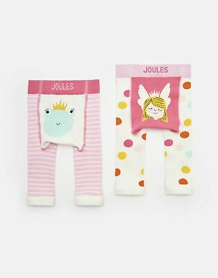 Joules Baby Girls Lively   Two Pack Character Leggings -  Size 0m-6m