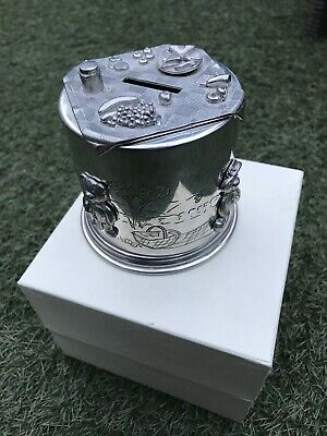 Pewter Collection Teddy Bears Picnic Money Box