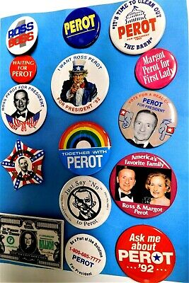 15 Ross Perot Presidential  Pins