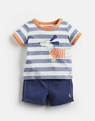 Joules Babys Barnacle   Jersey Screenprinted T Shirt And Shorts Set -  Size