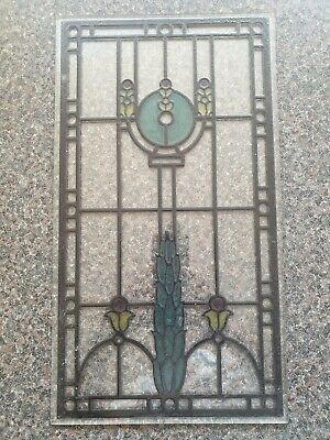 STAIN GLASS WINDOW PATTERN Used Good Condition (R4)
