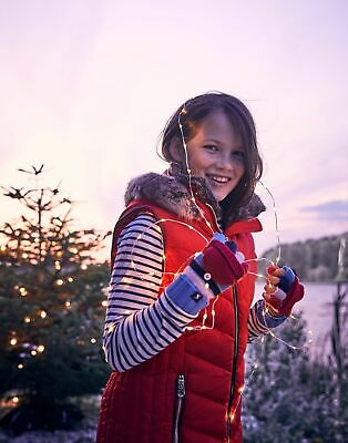 Joules Girls Alanis Quilted Gilet Jacket  - RED Size 9yr-10yr