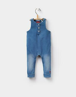 Joules Baby Girls Frankie Jersey Dungarees - DENIM Size 12m-18m