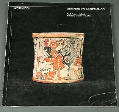 Sothebys Fine Pre-Columbian Art NY December 1981 with prices realized