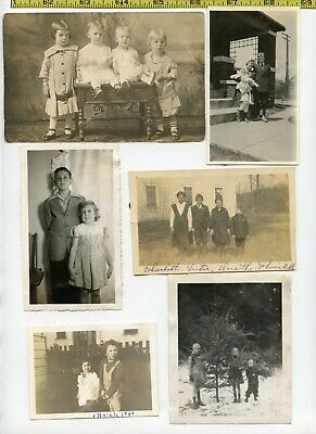(15) Vintage photo lot / BROTHERS & SISTERS Children Kids  OLD SNAPSHOTS 1900-55