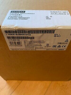New Siemens SCALANCE X116 6GK5116-0BA00-2AA3 Industrial switches
