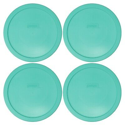 Pyrex 7402-PC Light Green Plastic Food Storage Replacement Lid Cover (4-Pack)