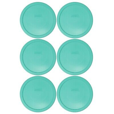 Pyrex 7402-PC Light Green Plastic Food Storage Replacement Lid Cover (6-Pack)