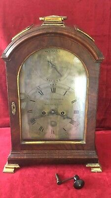 Quality English Triple Pad Verge Fusee Bracket Clock