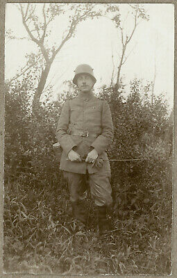 Decorated WW I Imperial German Army Officer (?) RPPC Postcard, circa 1918