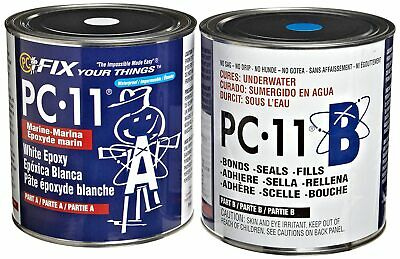 PC Products PC-11 Two-Part Marine Epoxy Adhesive Paste, Off White, 8 lbs, Two Ca