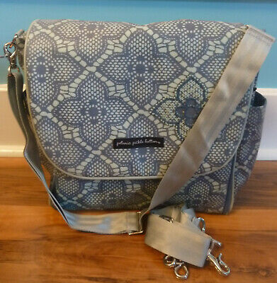 Petunia Pickle Bottom Boxy Convertible Backpack Baby Infant  Diaper Bag EUC