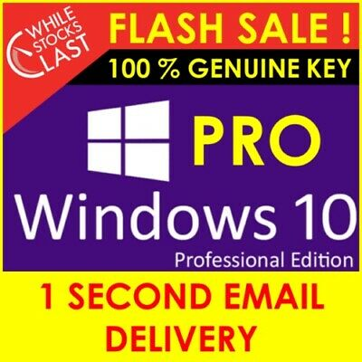 Windows 10 Pro Professional 32/64 bit Activation License Key - Instant Delivery