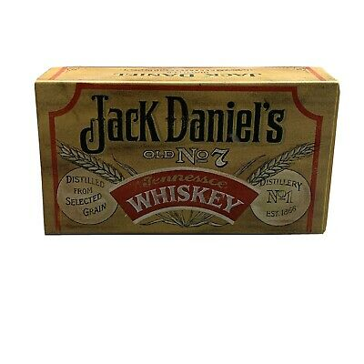 Vintage Jack Daniels Tin Match Box Old No. 7 Matches Included