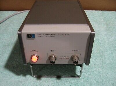 HP 8447A RF Amplifier .1 to 400Mhz -- Tested -- Working