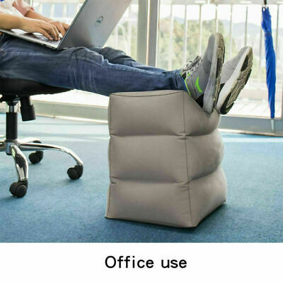 Air Inflatable Foot Rest Travel Air Pillow Cushion Office Home Leg Up Footrest