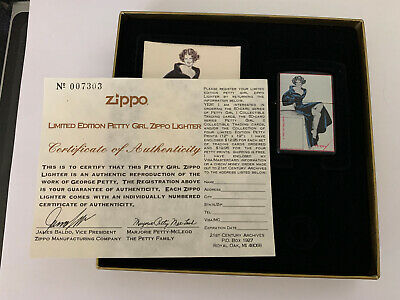 New Unused Limited Edition Petty Girl Marjorie Zippo Lighter with Box