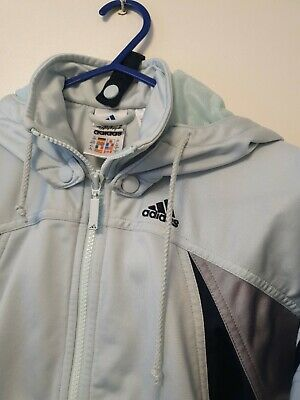 Adidas Girls Aged 6-7 Sage Hooded Sports Top