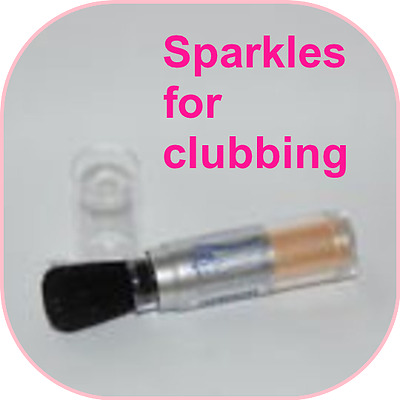 2 x SPARKLES 4 CLUBBING Collection 2000 Shimmer Sensation Flavoured Body Powder