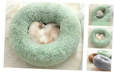 XIAJIE Pet Bed, Fluffy Luxe Soft Plush Round Cat and Dog Bed, Donut 50 Green