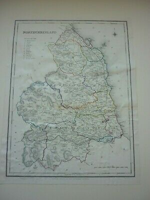 C19th Map of Northumberland by R.Creighton