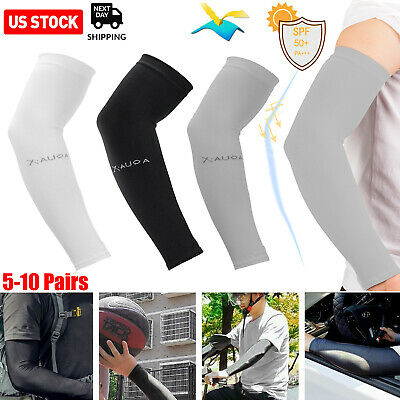 5-10 Pairs Cooling Arm Sleeves Cover Basketball Golf Sport UV Sun Protection Men
