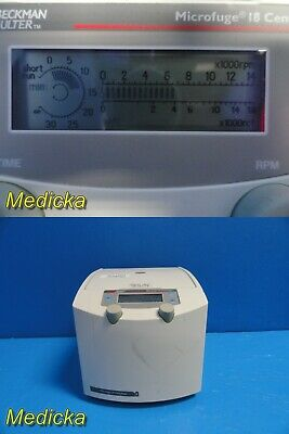 Beckman Coulter 367160 Microfuge 18 Centrifuge W/O Rotor ~ 22013
