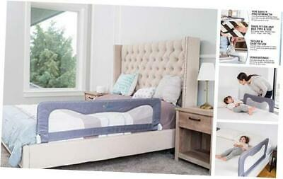 Toddler Bed Rail Guard for Kids– Bed Safety Rail Guard Regular Grey