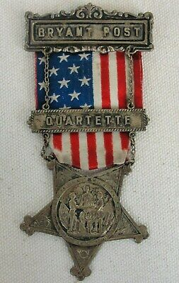 """Bryant Post """"GRAND ARMY OF THE REPUBLIC VETERENS"""" GAR Medal From Comrades"""