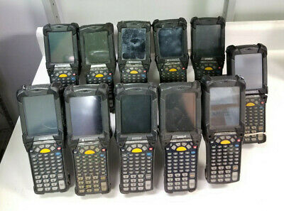 Lot of 11 MC9090 MC9060 G Series Barcode Scanners No Battery or Stylus For Parts