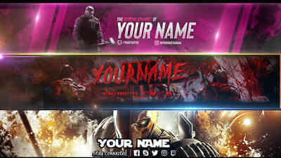 Custom Youtube Banner - Fast 48 Hours Delivery