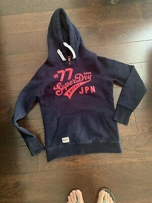 Superdry Girls Hoodie Size L ( About Age 16 Or Size 8)