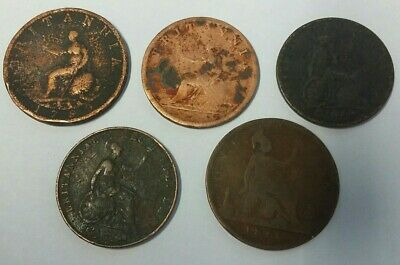 OLD ENGLISH coins ... ½ PENNY and PENNY dated 1799 to 1860
