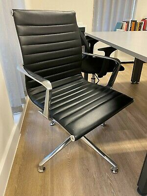 Leather Eames style chair