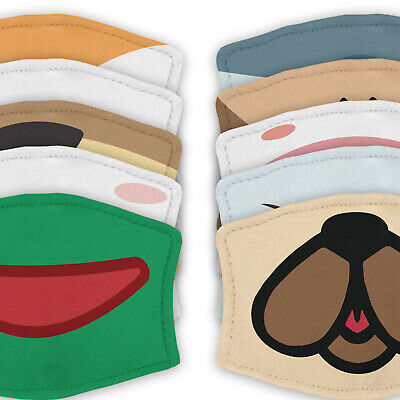 Animal Mouth - Reusable Adult Face Masks - 2 Filters Included